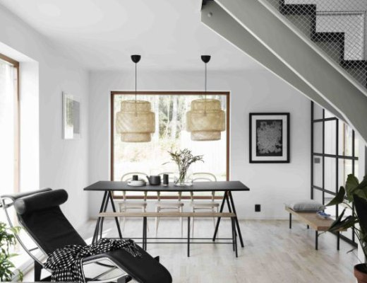 A gorgeous and serene Nordic apartment / Hermoso departamento escandinavo en blanco y negro // casahaus.net
