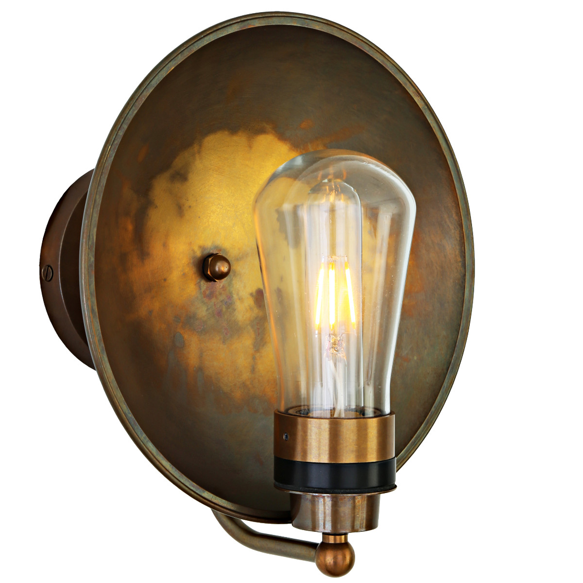Badezimmer Industrial Industrial Dish Wall Light Ip54 Casa Lumi