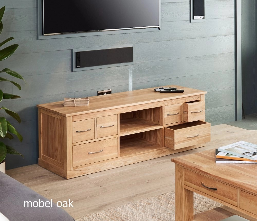 Mobel Tv Baumhaus Mobel Oak Widescreen Television Cabinet
