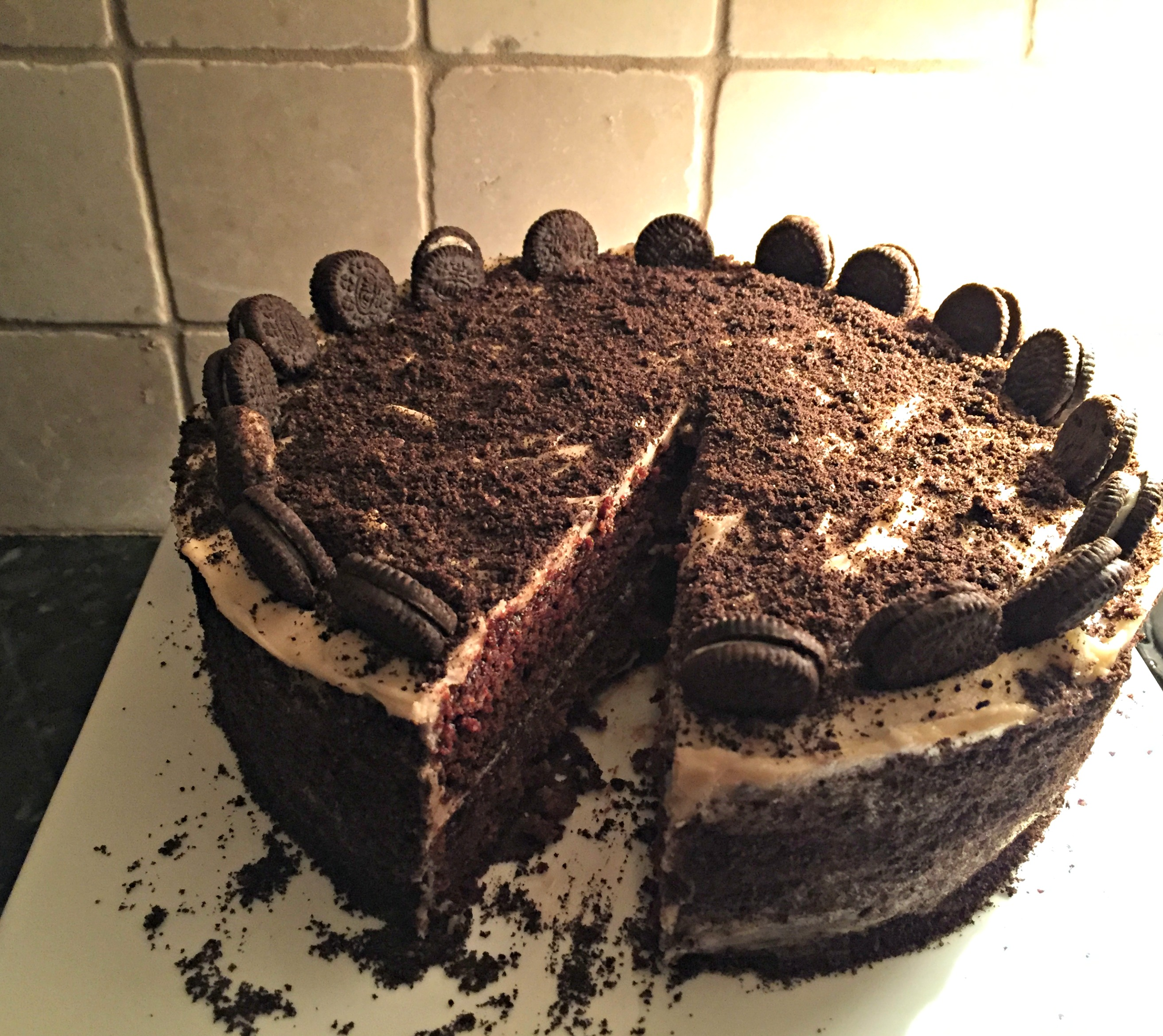 Vegane Oreo Torte Chocolate Oreo Layer Cake Catskill Animal Sanctuary