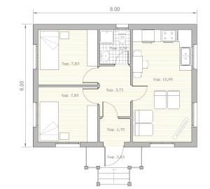 Casa de madera de lujo L01