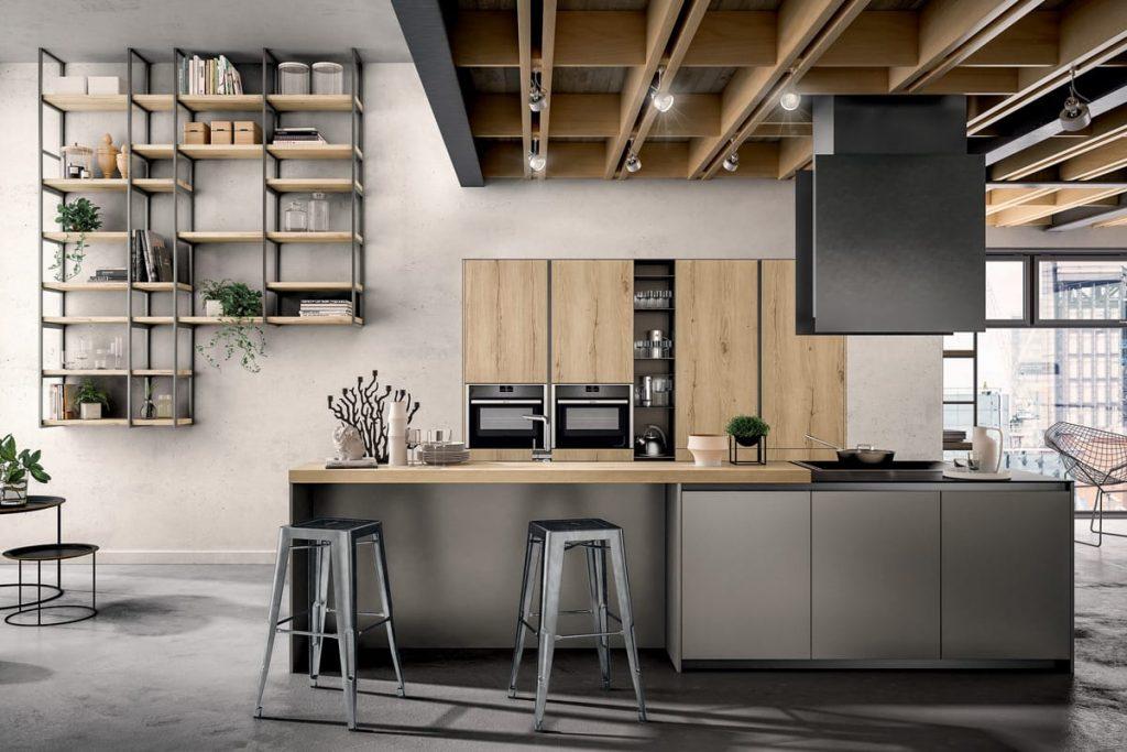 Cucine Moderne Con Snack | Cucine Da Esposizione A Prezzi ...