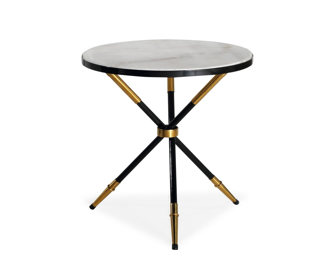 Black Side Table Vasilis Round Black Gold Side Table Casa Uniqua