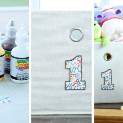 How To Personalize Canvas Bins With DIY Storage Labels