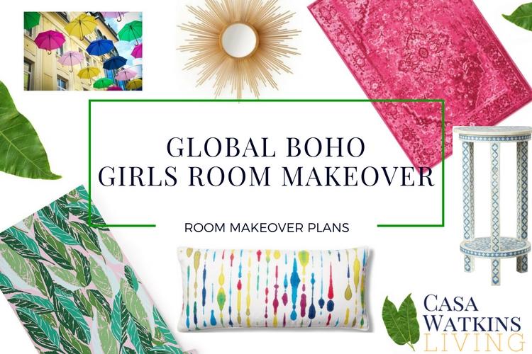 Global Boho Girls Room Makeover