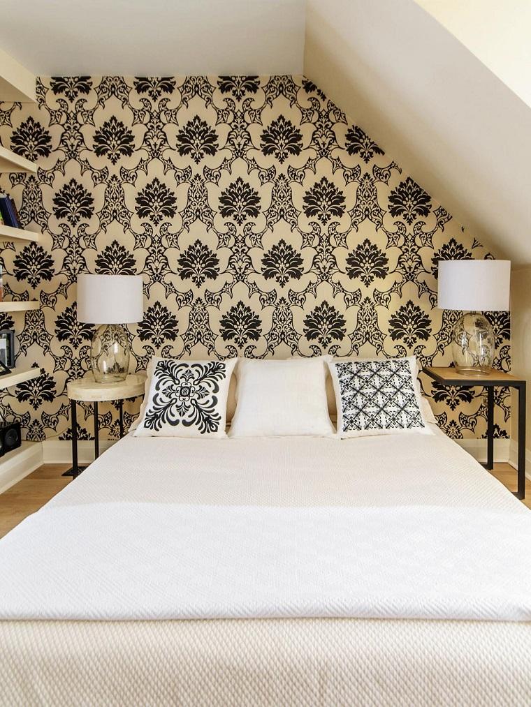Black And Cream Damask Wallpaper Combinaciones De Colores Para Las Paredes Del Dormitorio