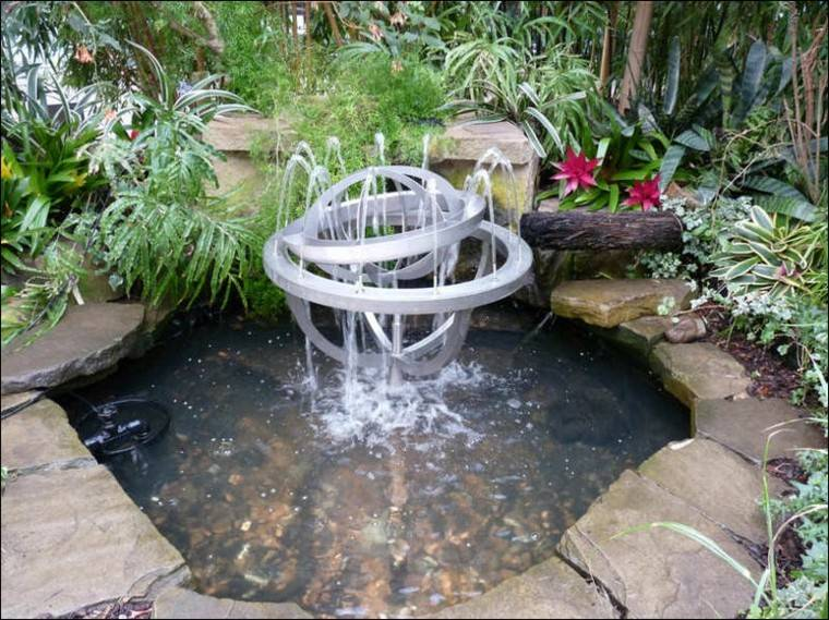 estanque jardin fuente moderna metal Diseño Fuente de Agua