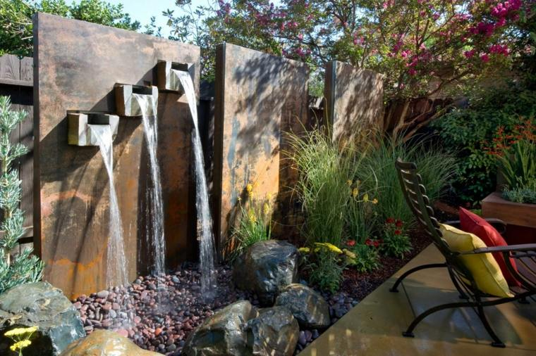 fuente agua tres chorros metal Diseño Fuente de Agua Pinterest - cascada de pared