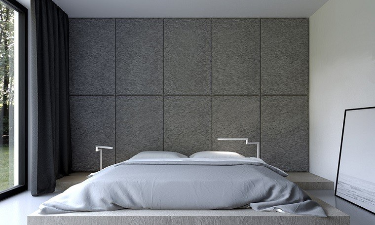 Lamparas De Pared Para Dormitorio Decoración De Interiores Modernos En Gris Y Blanco