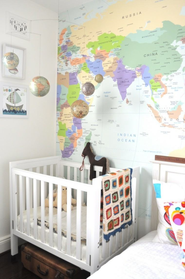 Decorar Pared Dormitorio Globos Y Mapas Para Decorar La Casa Con Estilo
