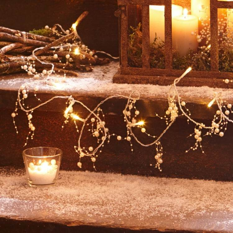 Decorar Interior Chimenea Luces De Navidad: 50 Ideas Festivas Para Decorar La Casa
