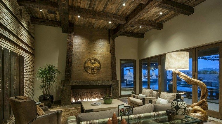 Muebles De Tv Originales Salones Rusticos: 50 Ideas Perfectas Para Casas De Campo