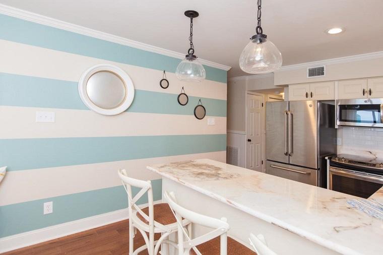 decoracion-de-paredes-rayas-blancas-azul-cocinajpeg (760×506 - decoracion de paredes