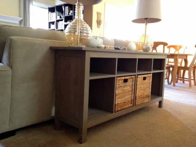 Mesas Consolas Detras Del Sofa 35 Ideas Para El Salon
