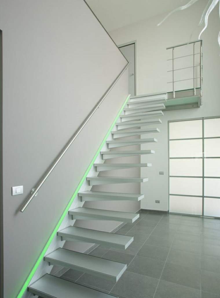 Ideas De Decoracion Para Salones Escaleras De Interior Y Exterior Con Iluminación Led