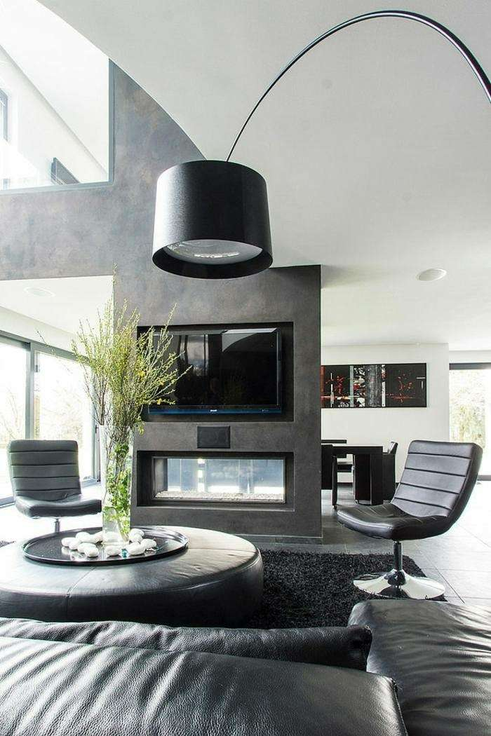 Cortinas Salon 2017 Chimeneas Modernas Para Salas De Estar Exquisitas