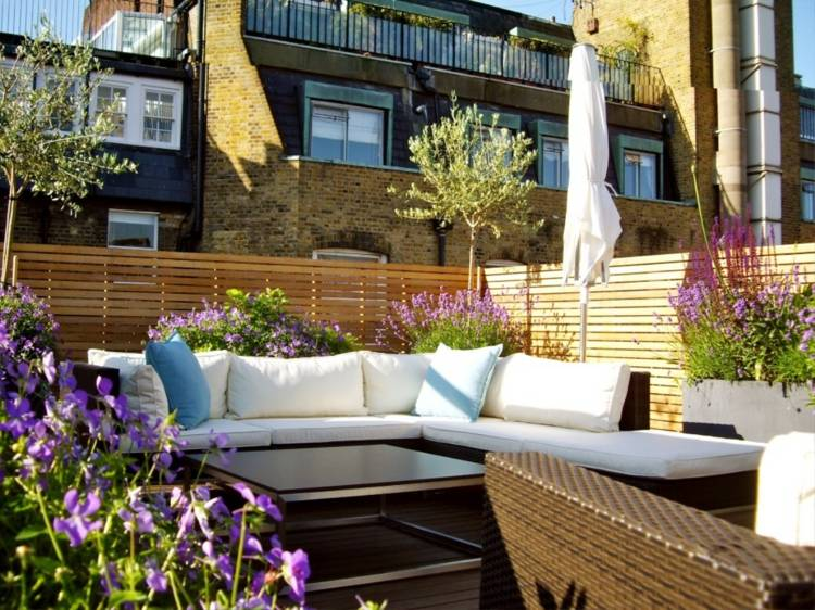 Plantas de exterior para terrazas y balcones - 38 ideas - - Decoracion De Terrazas Con Plantas