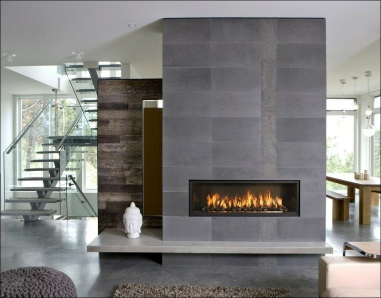 Salones Con Chimenea Moderna 50 Interiores Calidos