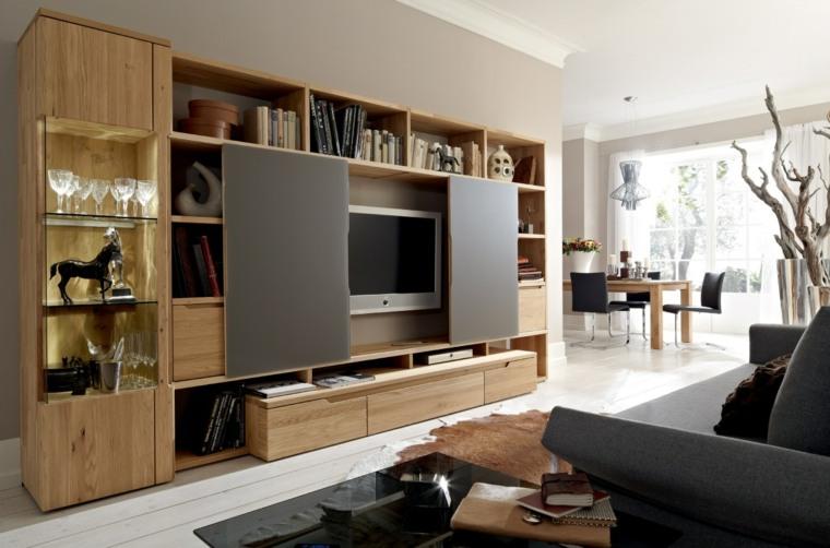 muebvles-salon-pared-maderajpg (760×502) Ideas para el hogar - muebles de pared