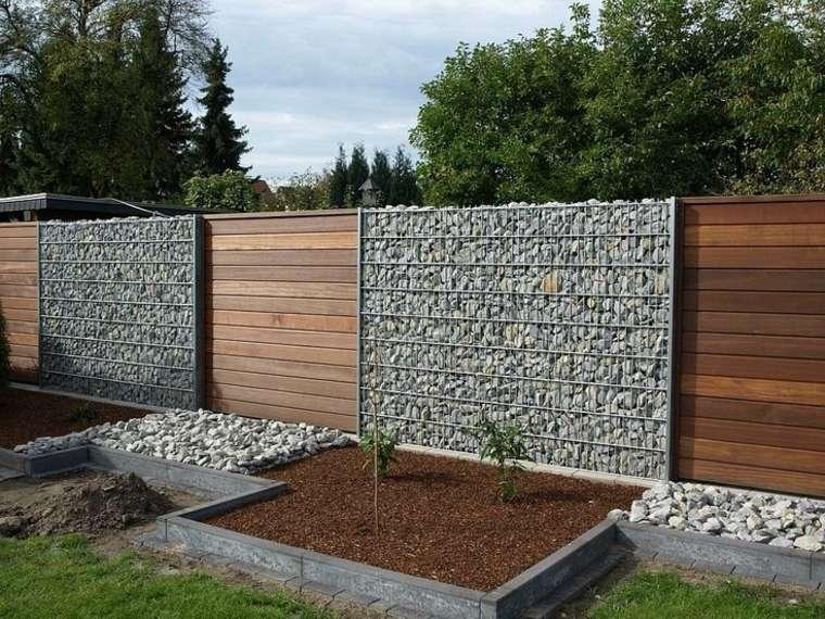 gaviones decorativos bali piedra natural gavion rojo ... Electrosoldada Gaviones decorativos para patios y jardines - 34 ideas  ...