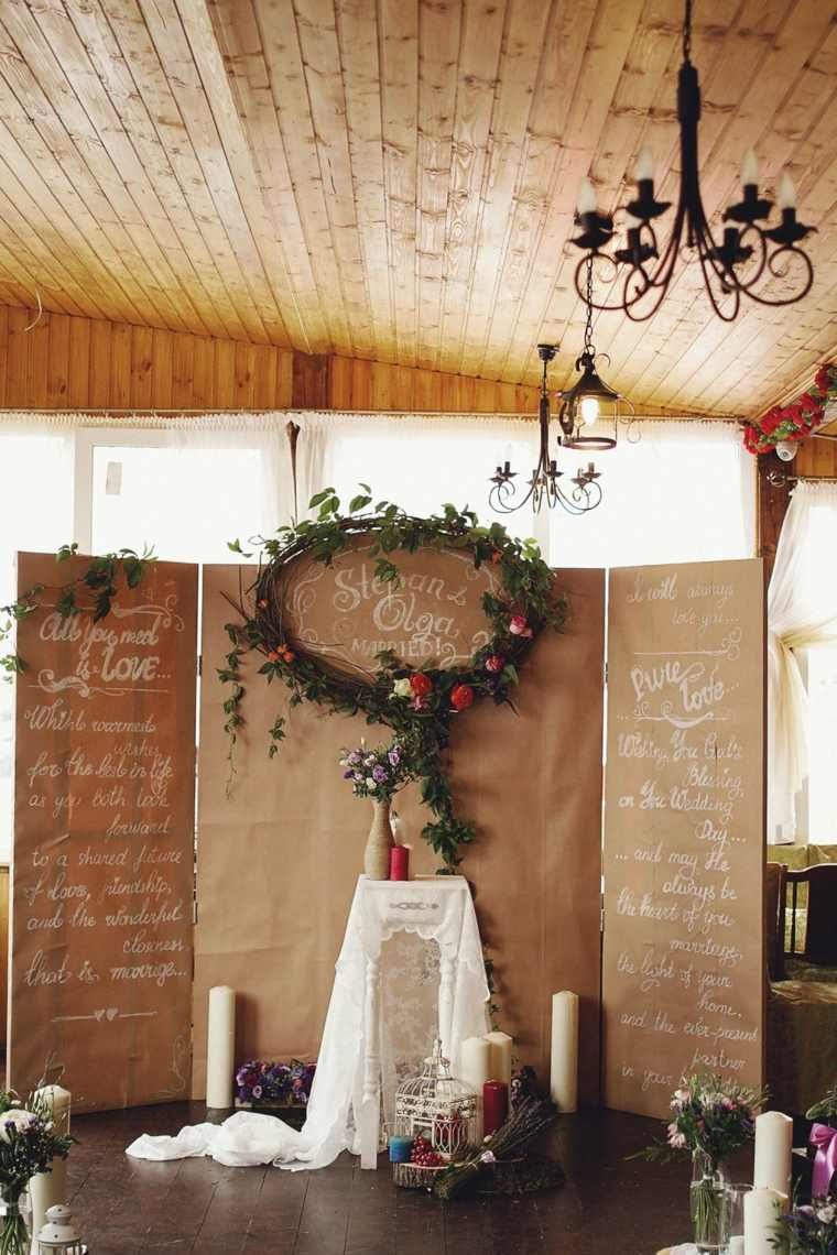Decorar Vintage Photocall Para Bodas - 37 Ideas Espectaculares