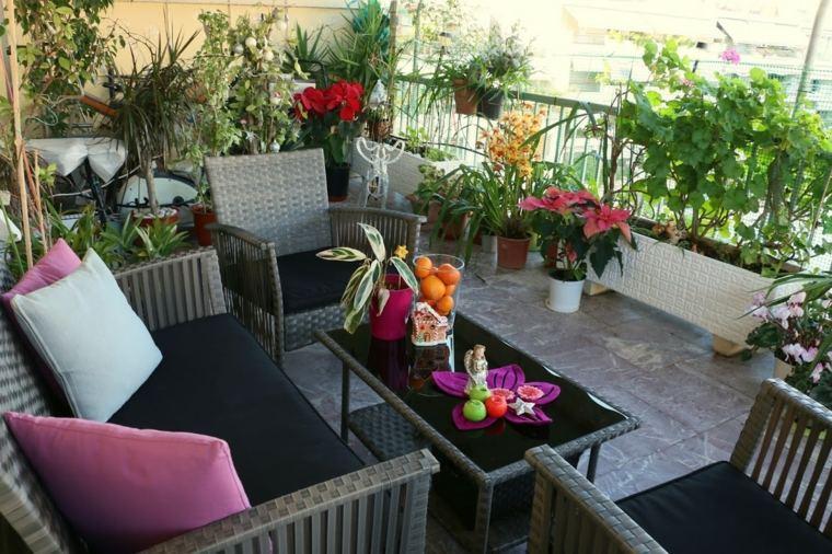Terrazas decoradas con plantas, ideas originales - - Decoracion De Terrazas Con Plantas