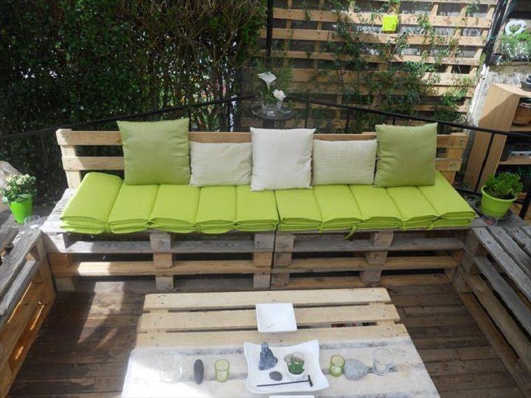 Terrazas con palets - más ideas para la decoración de primavera - - Terrazas Con Palets