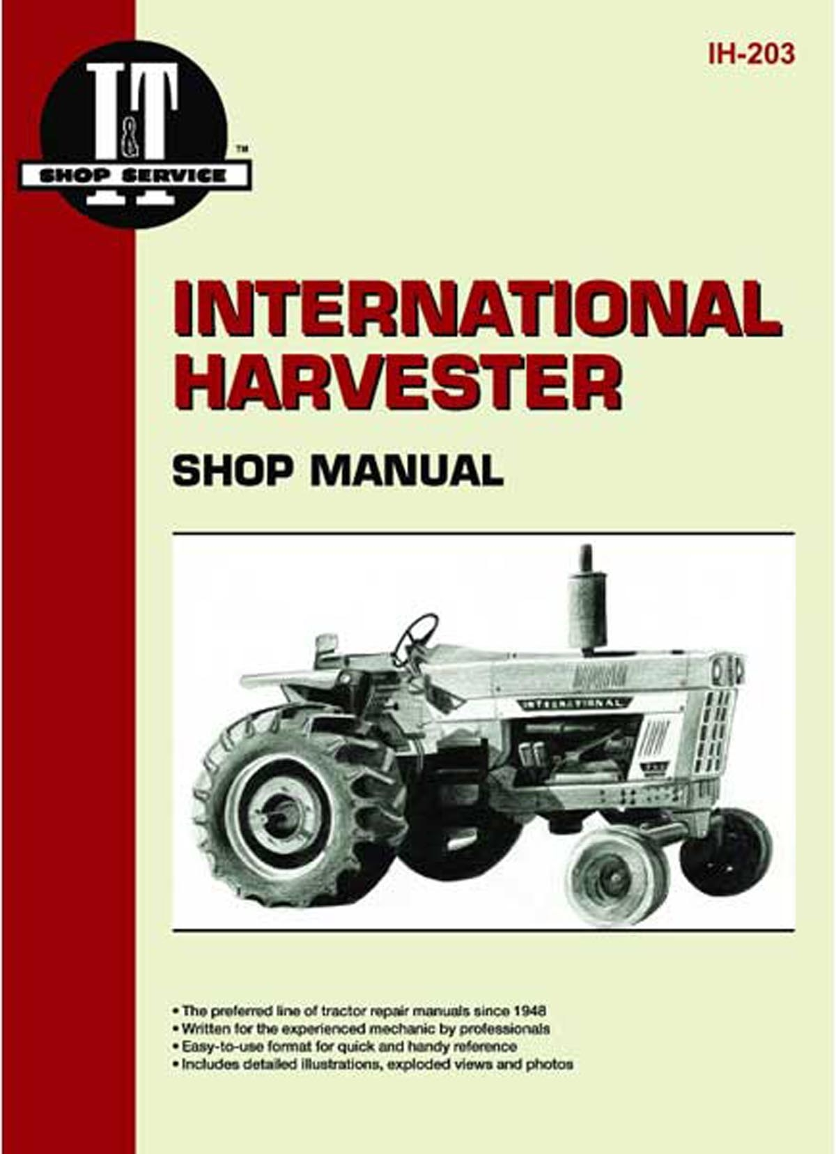 1086 International Harvester Wiring Diagram Shop Service Manual For The Case Ih 1026 1066 1086 454