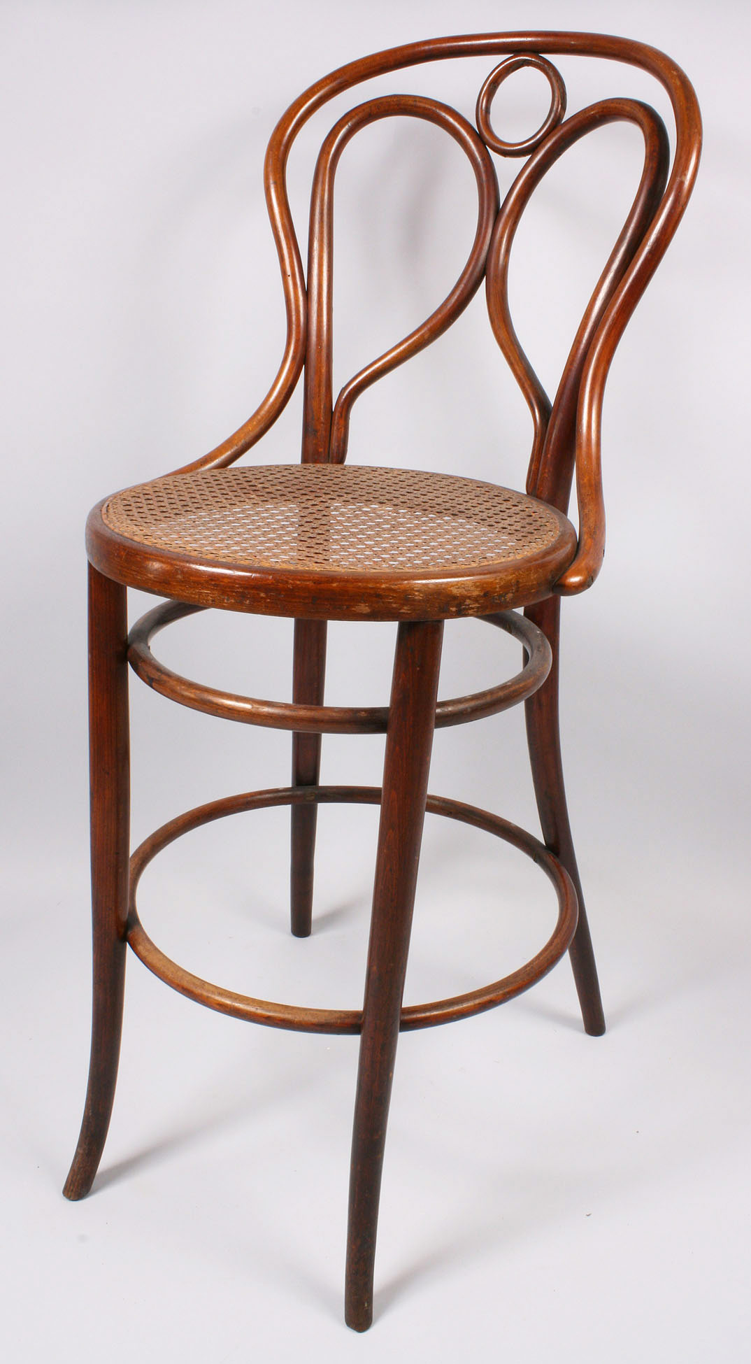 S 43 Thonet Lot 145: Fischel Bentwood Chair, Bar Height