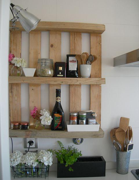 pallet kitchen shelves