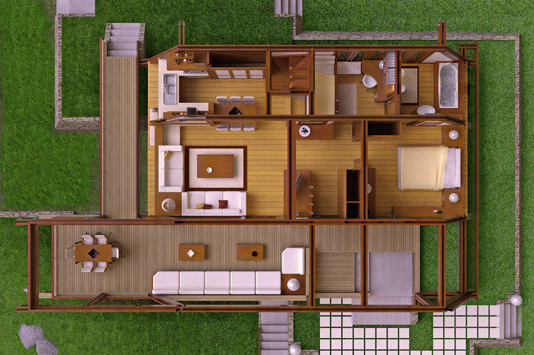 Modern Wood House Plans Tradition In Contemporary Lines