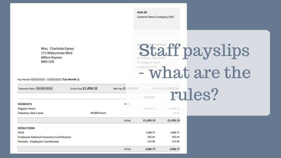 Staff payslips - what are the rules? - Caseron Cloud Accounting