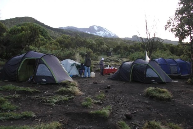 Machame Camp where we rested the first night