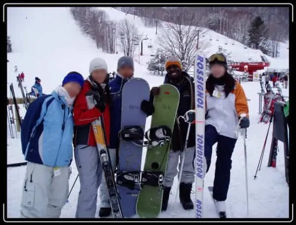 Casey and friends at Horseshoe Valley, 2006.