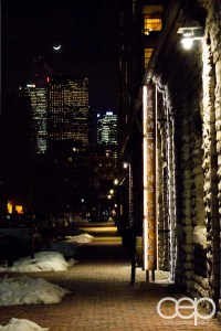 The entrance to the Fermenting Cellar in the Distillery District.