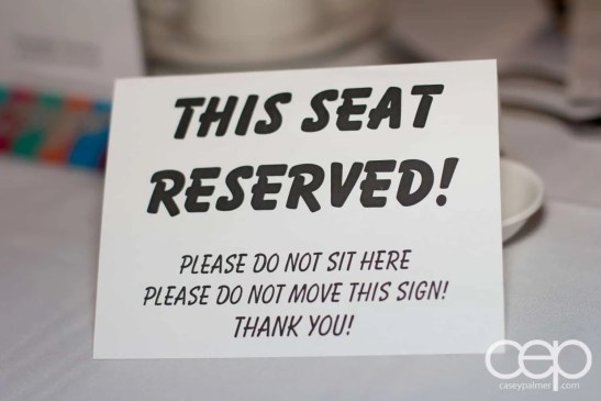 A mysterious seat reservation at Mysteriously Yours... Mystery Dinner Theatre