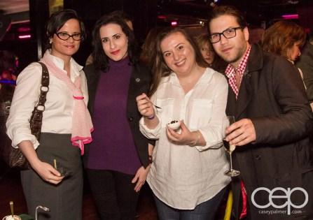 L-R: Tiffany Mealia, Laura Mandell, Christine Pantazis, Corey Herscu at the Women's Brain Health Initiative launch party.