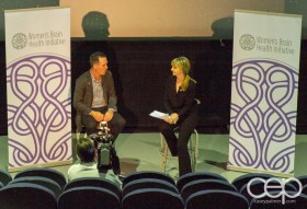 Michael McGowan and Kirstine Stewart at the Women's Brain Health Initiative launch party.