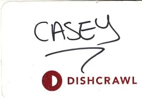 Scarborough Dishcrawl II — Nametag