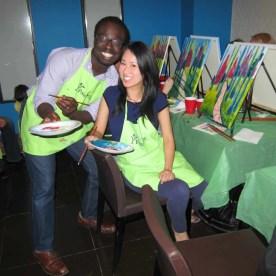 #BuytopiaPaintNite — Paint Nite Toronto — Banu — Casey Palmer and Judy E. Lee