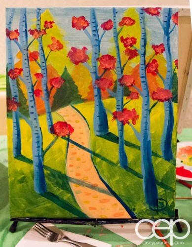 We painted trees. Like a Ross!!!