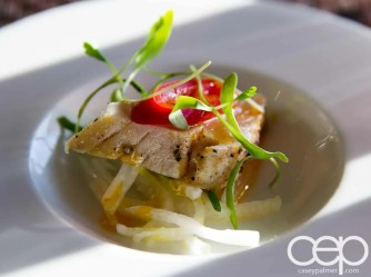 CN Tower — 360 - The Restaurant at the CN Tower — Summer Menu - Prix Fixe — PEPPER SEARED ALBACORE TUNA