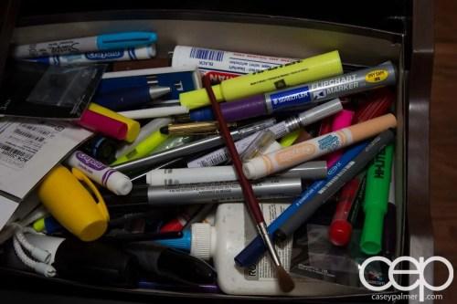 Casey Palmer's Pen Drawer (1 of 1)