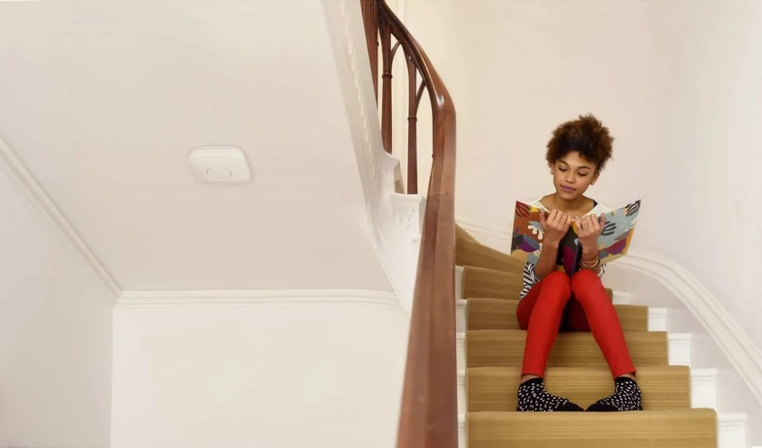 Building a Smarter Home with TELUS, Part One — The Things You Detect with a Nest Protect — Nest Protect Lifestyle Shot Daughter Safe and Sound