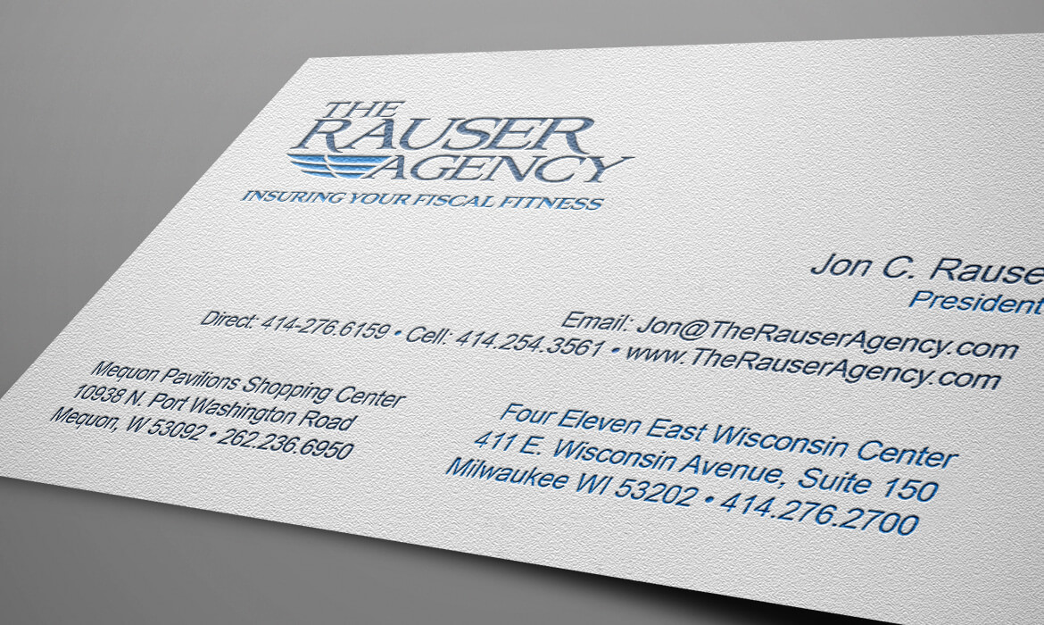 The Rauser Agency Business Cards – Casper Creative Group