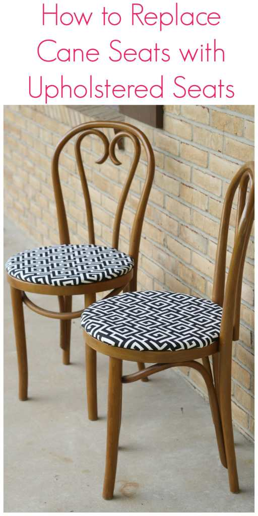 How to replace cane seats with upholstered seats tutorial