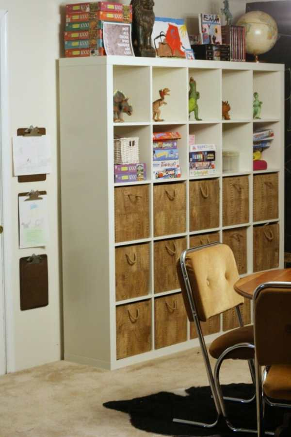 expedit storage in playroom