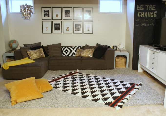 eclectic playroom lounge area