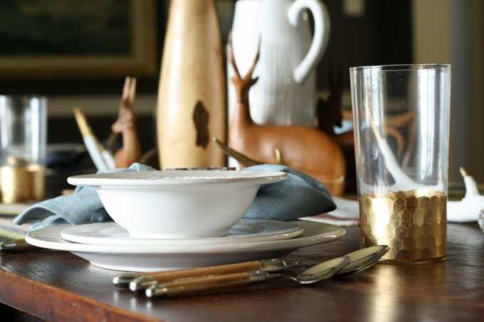 relish decor gold glasssware