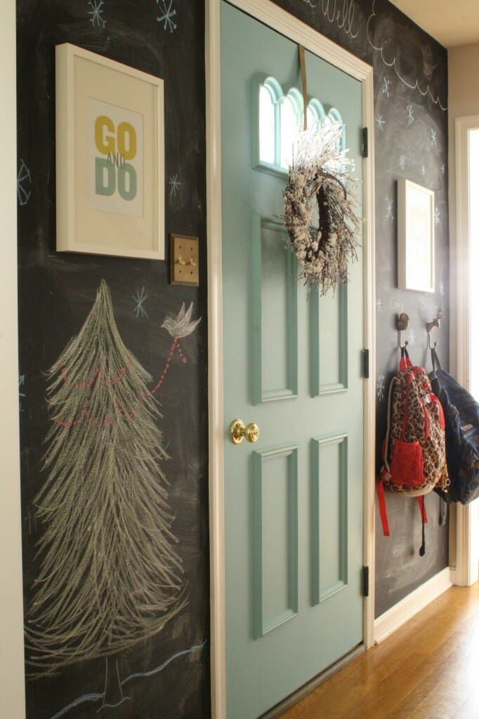 christmas chalkboard wall
